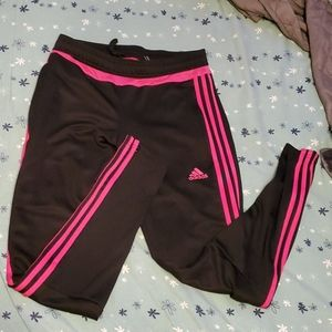 Adidas pink lined athletic bottoms
